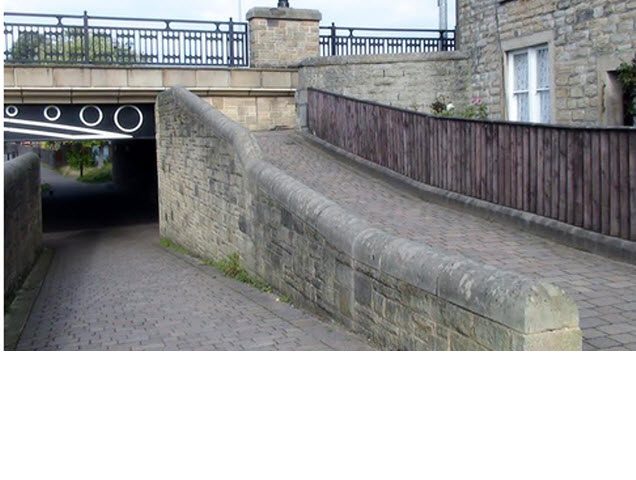 Canal Cottages Nos 4 & 5 attached boundary wall