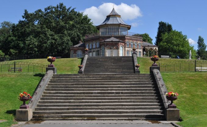 Double flight of steps to the south of The Pavilion