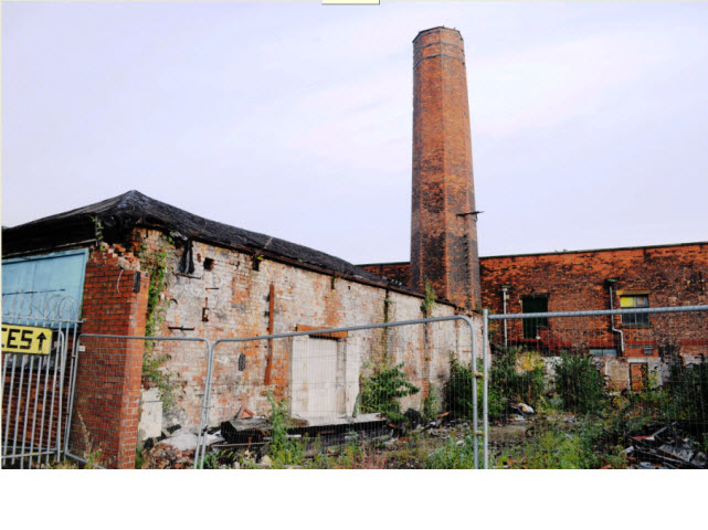 Boiler House and chimney at Eckersleys Western No1 Mill