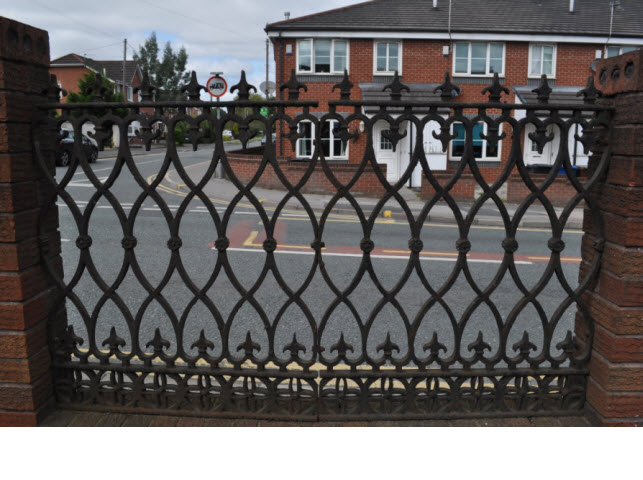 Railings to garden