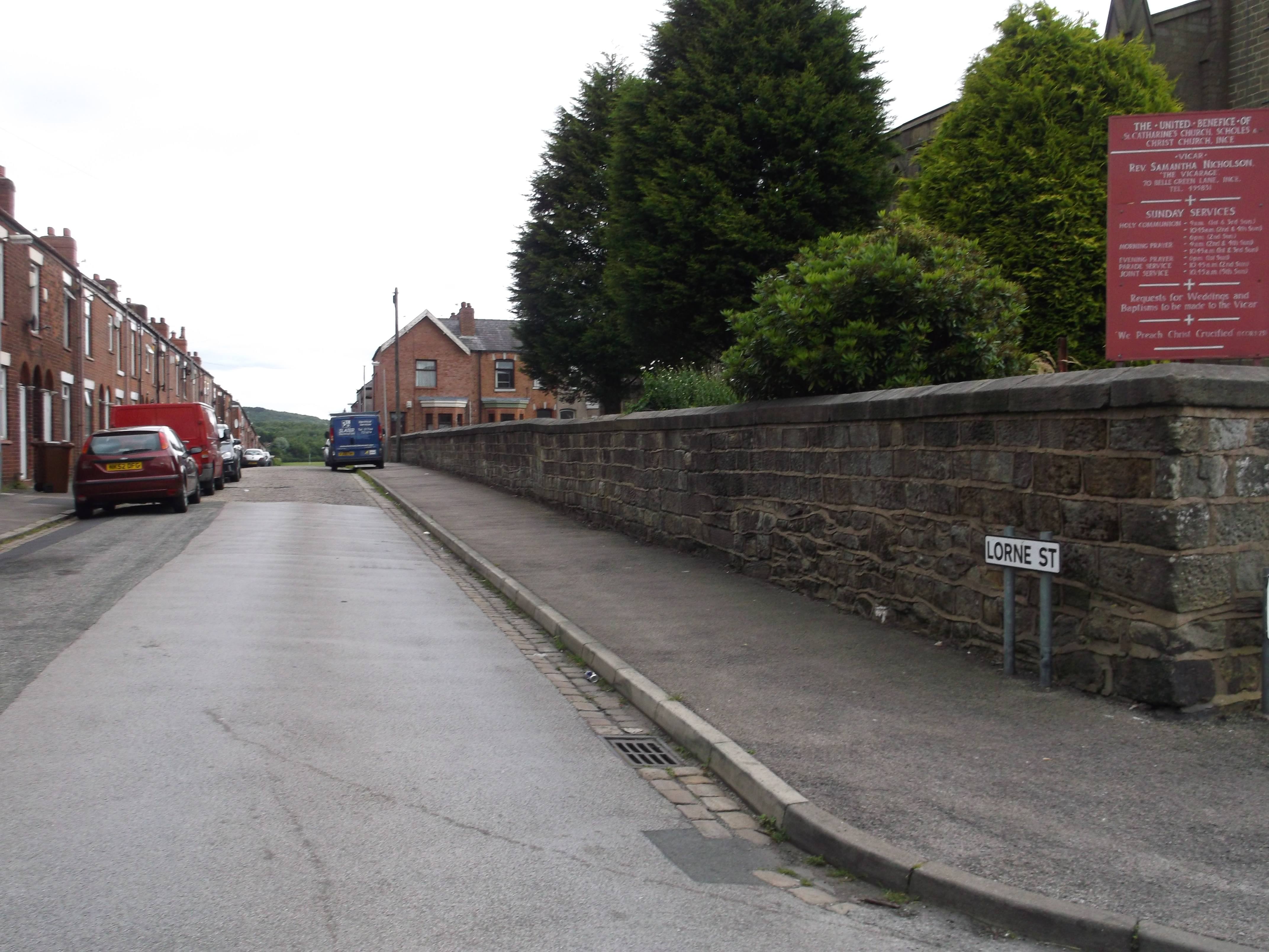 Boundary wall to Churchyard of St Catharine