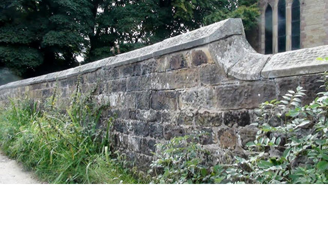 Churchyard Wall east of St Davids Church