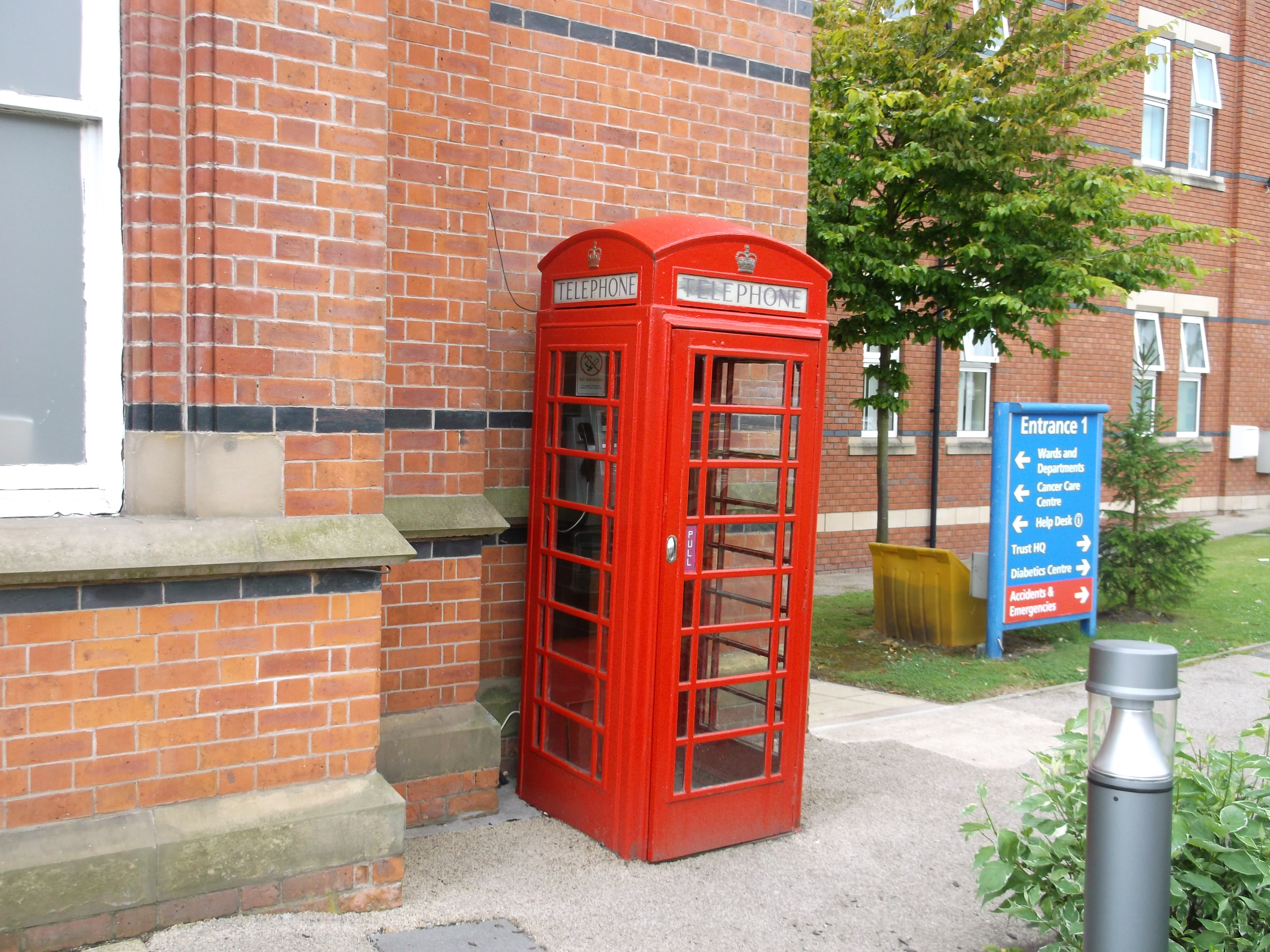 Royal Albert Edward Infirmary-outside of- K6 Phone Box