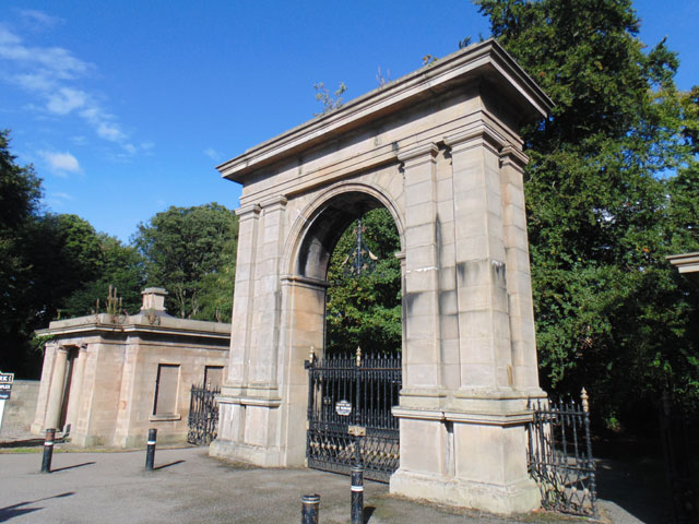 Gateway and lodges to Haigh Hall Park